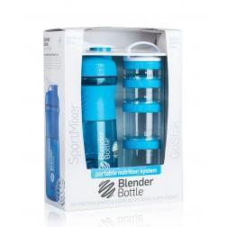 Aqua BlenderBottle SportMixer & GoStak Combo Pack